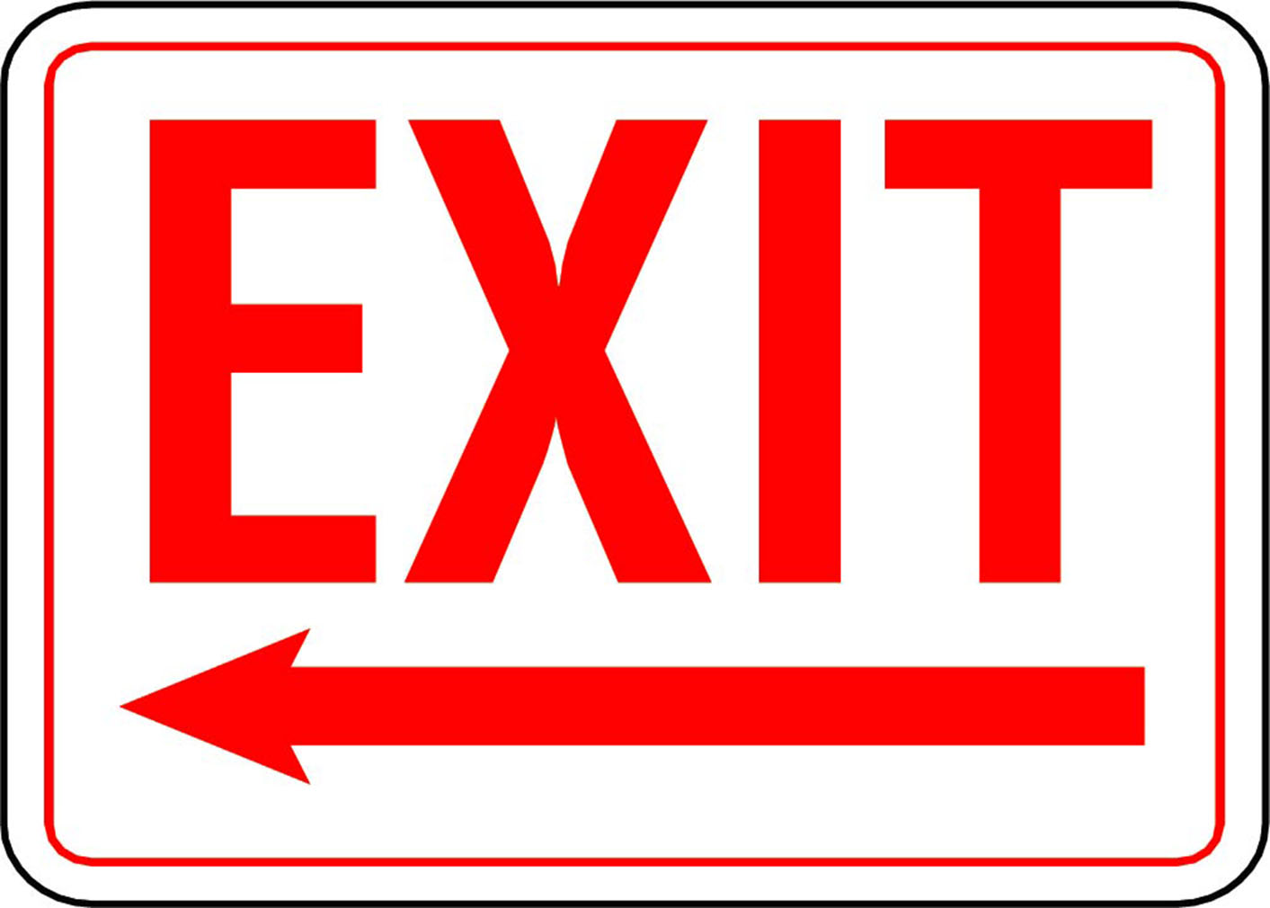 Declarative image for printable exit signs