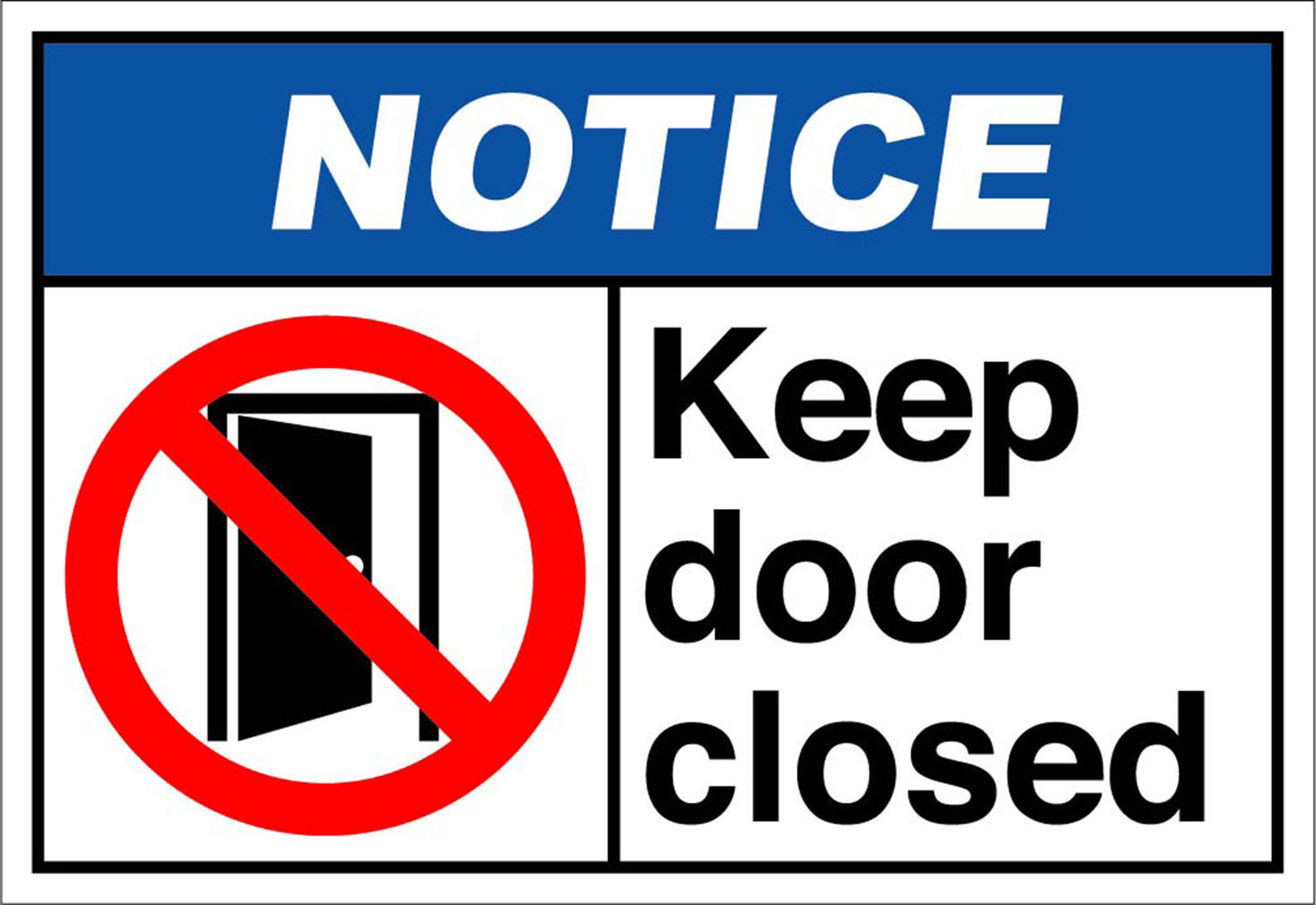 It's just an image of Witty Keep Door Closed Sign Printable