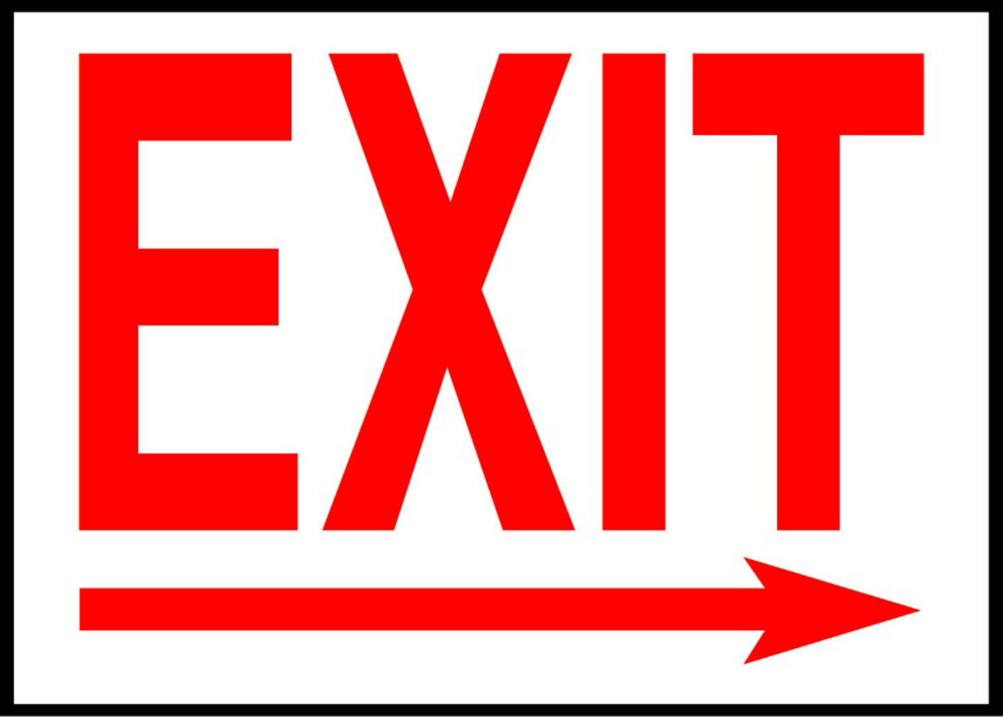 Exit Right Arrow Emergency Exit Osha Ansi Label Decal